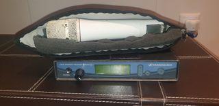 Micrófono senhheiser 500 3g con condensador.