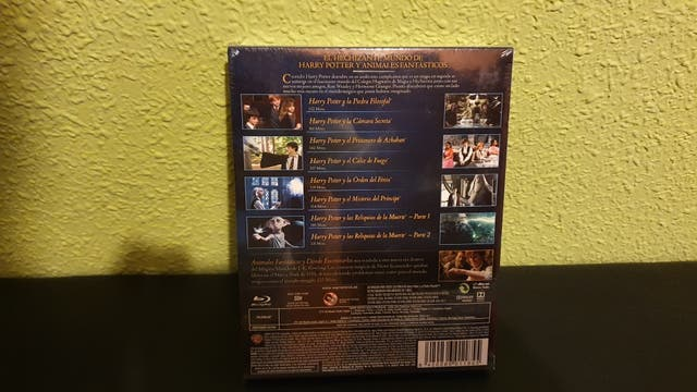 Pack blu ray Harry Potter (1-8)+ animales fantasti