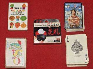 Lote 5 barajas de cartas japonesas,
