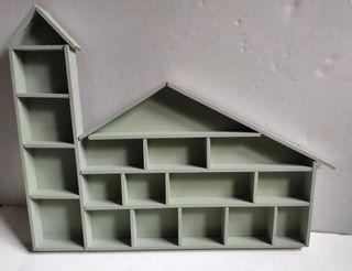 Estantería miniaturas Casa Vintage