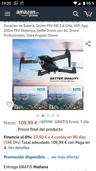 Dron cuadroptero con cámara