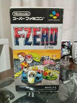Juego F-ZERO de Super Nintendo (japonés)