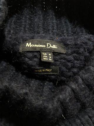 Massimo Dutti / Jersey C/mohair azul noche T:M