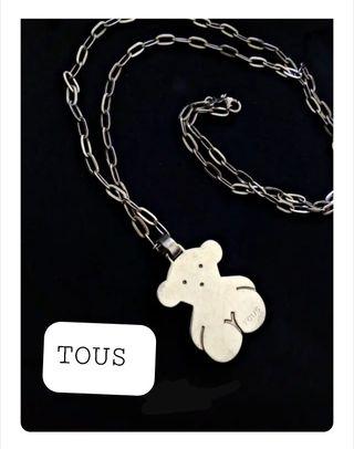 Collar oso TOUS con cadena de plata