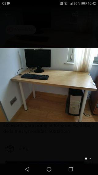 soporte torre ordenador para debajo de la mesa.