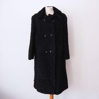 Abrigo largo vintage de astracán