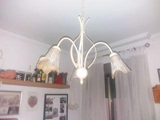 Lámpara de forja beige