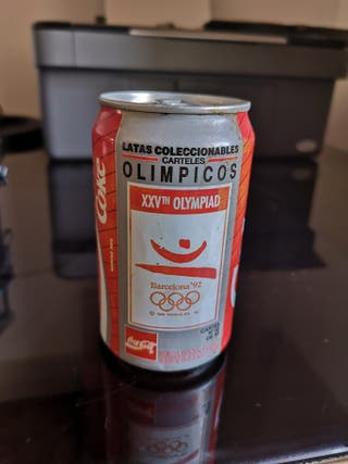 Lata vintage Cocacola Coke Olimpiadas Barcelona 92