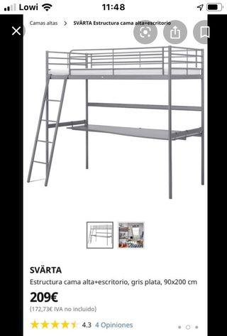 Cama- Litera modelo Svårta de Ikea