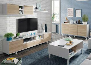 Conjunto salon comedor moderno mueble modular tele