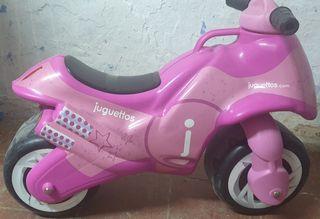 Moto juguettos rosa