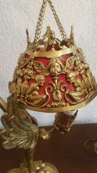 lamparas de bronce vintage