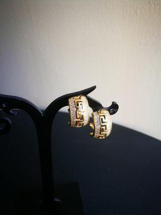 Pendientes oro 18k con circonitas blancas