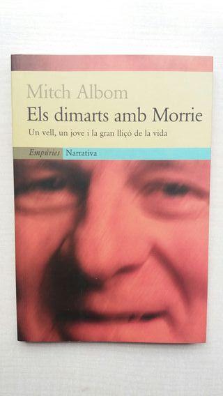 Libro Els dimarts amb Morrie. Mitch Albom.
