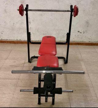 Banco de pesas + 90 kg pesàs Stadler
