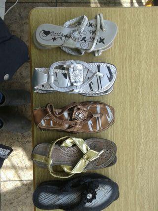 chancletas zapatos de verano traídos de brasil