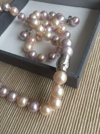 Perlas Majorica: collar pendientes conjunto