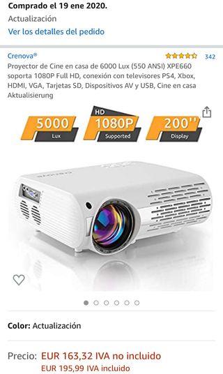 Proyector de Cine 5000 lux 1080p