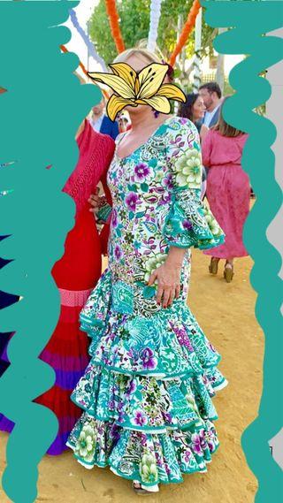 Traje de gitana flamenca