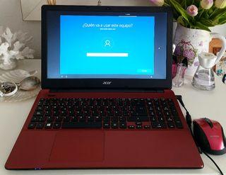Portatil Acer Aspire E5-521 rojo