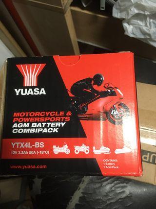 Batería Yuasa YTX4L-BS para jog -axis