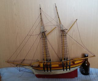 Barco. Maqueta de Velero artesanal.