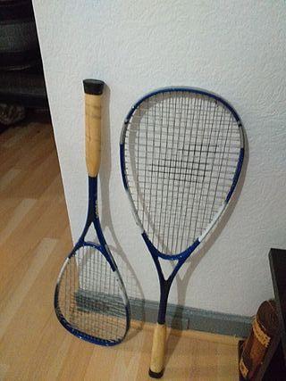raqueta de tenis vista