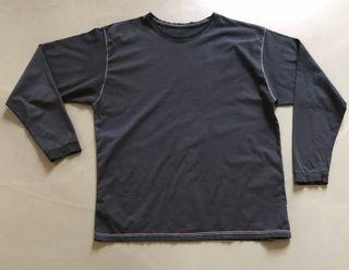 T shirt noir-graffitte manches longues T. 52 (L-XL