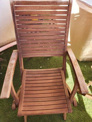 2 sillas terraza madera