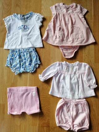 Ropa bebé niña verano 1-9 meses
