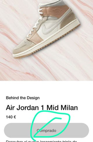 Zapatillas Nike Air Jordan 1 mid Milan