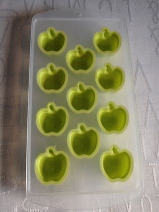 Molde bandeja para hielo manzana forma