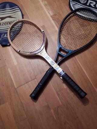 2 raquetas de tenis y frontón