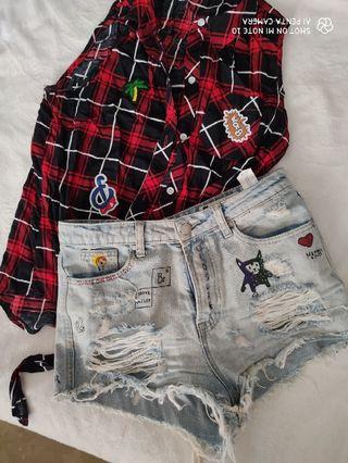 short y camisa