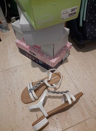 Zapatos - Sandalias Blancos
