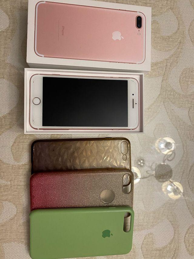 Iphone 7 plus y fundas de regalo