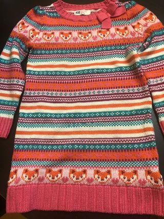Precioso vestido tricot HYM T4-6 años 110-116cms.