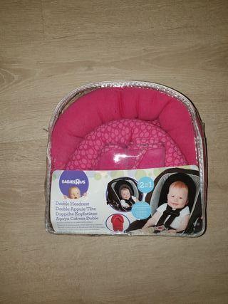 Cojín reductor doble protector cabeza bebé