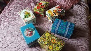 6 Cajas de lata de Colacao