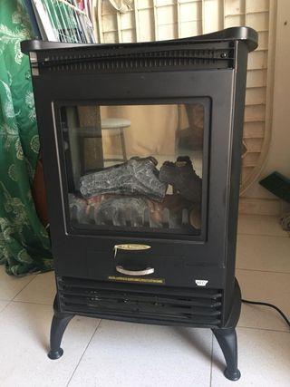 Estufa electrica efecto fuego