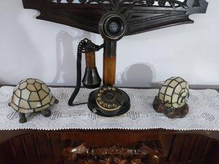 teléfono candelabro retro vintage