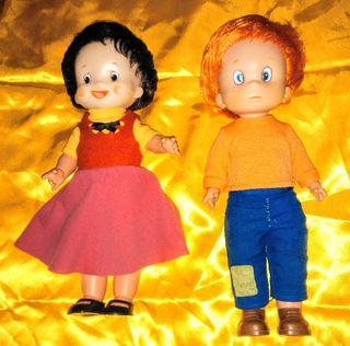 Heidi y Pedro de Famosa los años 70 Vintage