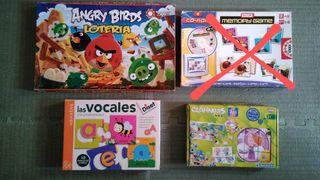 Puzzle vocales Diset y Lotería Angry Birds