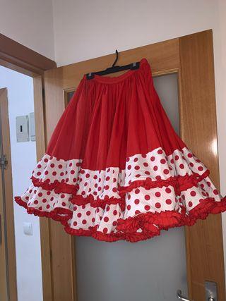 falda corta de sevillana flamenca gitana rociera