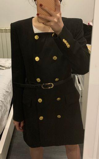 Chaqueta cinturon Zara