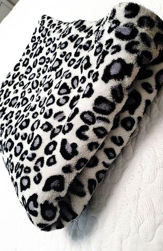 leopardo forro polar manta