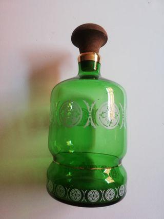 Botella cristal verde