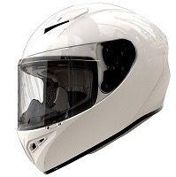 Casco moto integral shiro 870 blanco brillo