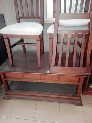 Mesa de centro + 3 sillas