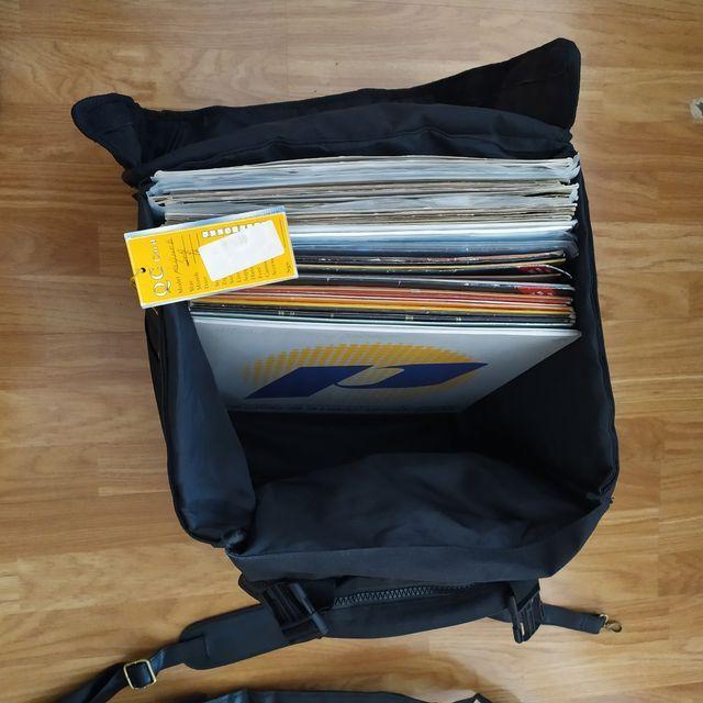Maleta discos de vinilo DJ